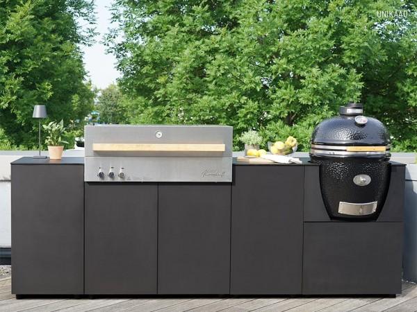 Outdoorküche KAARL 008 mit Flammkraft Block D und Monolith Classic